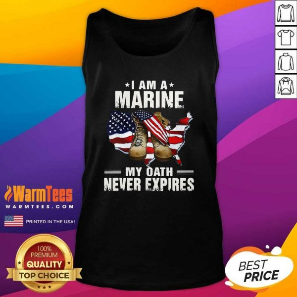 I Am A Marine My Oath Never Expires American Flag Tank Top - Design By Warmtees.com