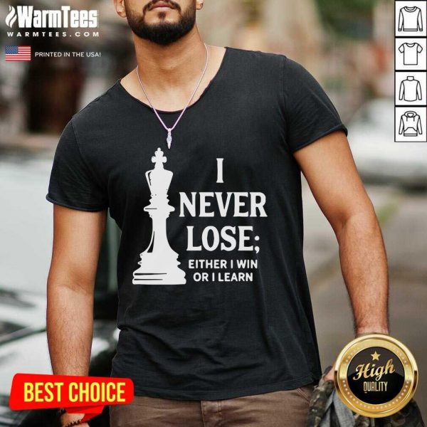 I Never Lose I Either Win Or Learn V-neck - Design By Warmtees.com