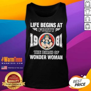 Life Begins At Forty 1981 The Birth Of Wonder Woman Tank Top