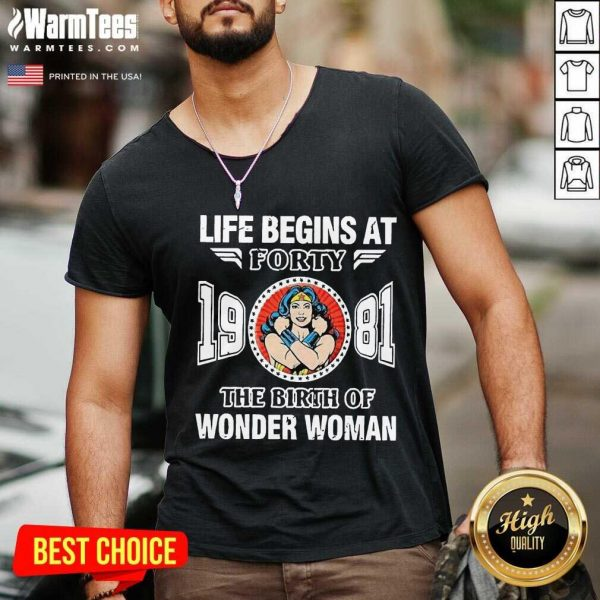 Life Begins At Forty 1981 The Birth Of Wonder Woman V-neck