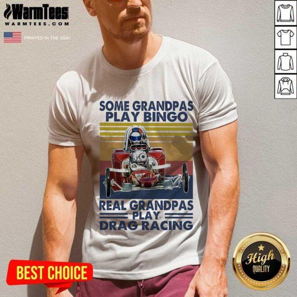 Some Grandpas Play Bingo Real Grandpas Play Vintage V-neck