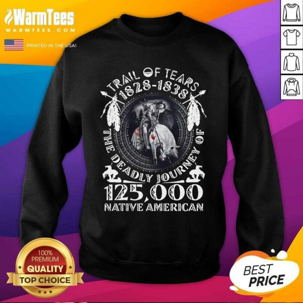 Trail Of Tears 1828 1838 The Deadly Journey Of 125,000 Native American SweatShirt