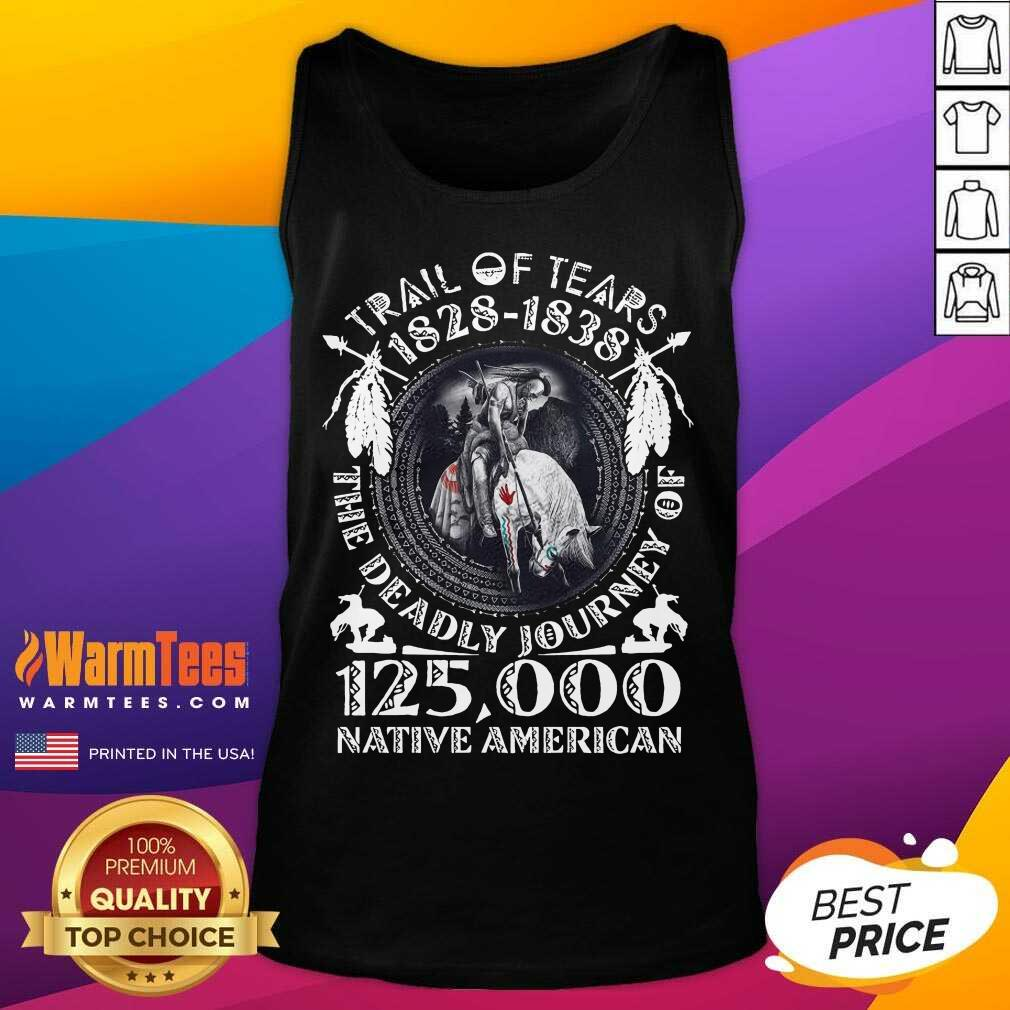 Trail Of Tears 1828 1838 The Deadly Journey Of 125,000 Native American Tank Top