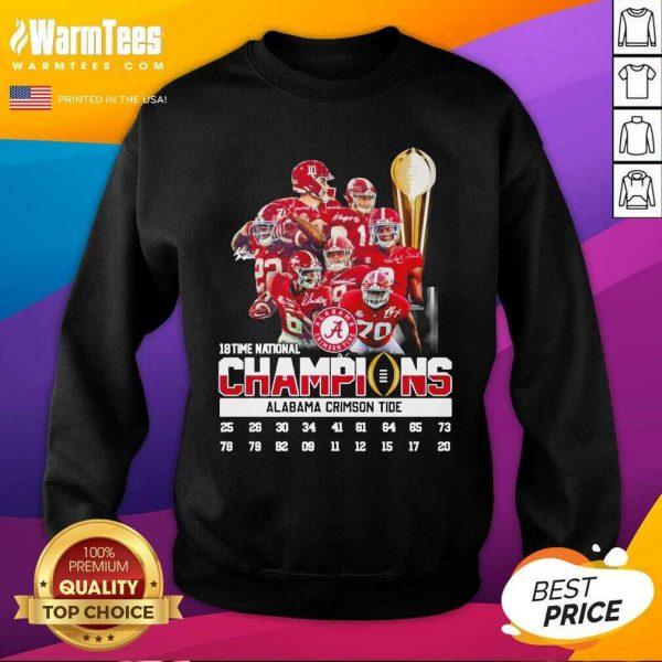 18 Time National Champions Alabama Crimson Tide SweatShirt