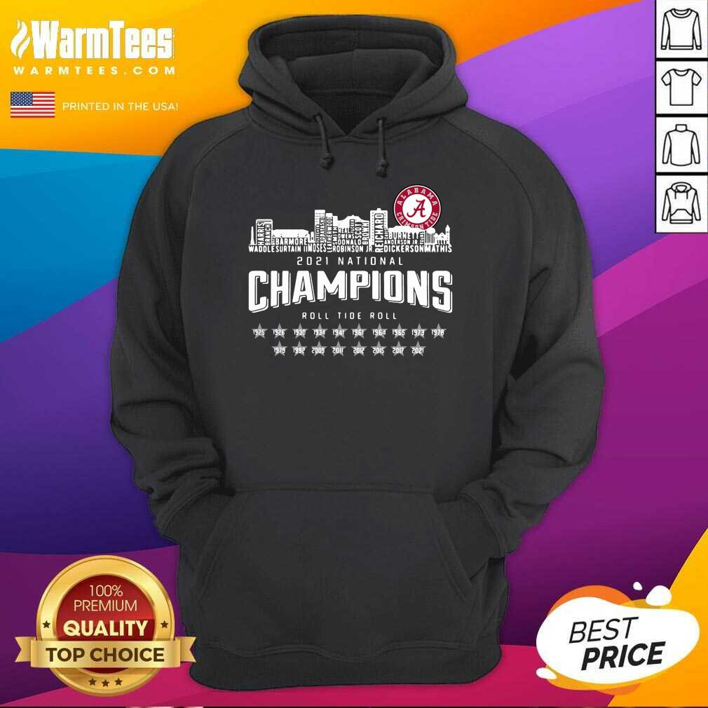 Alabama Crimson Tide 2021 National Champions Roll Tide Roll 1925 2021 Hoodie