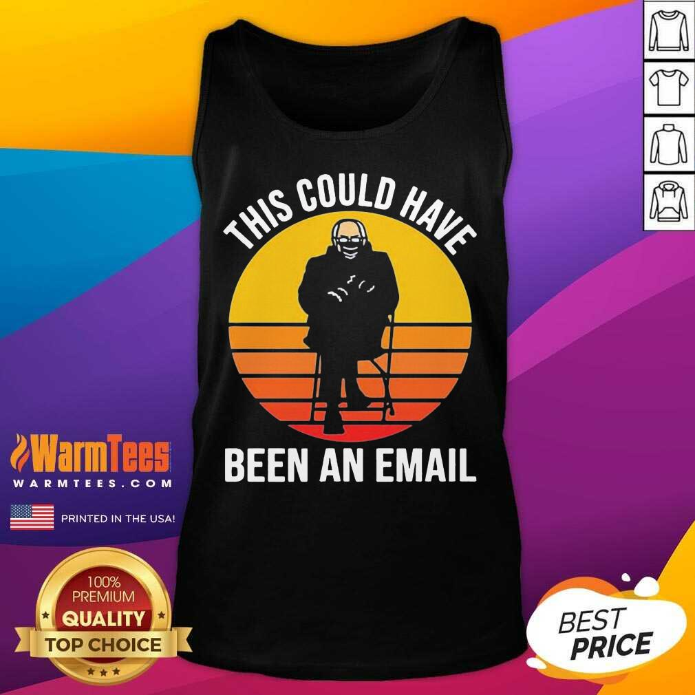 Bernie This Could Have Been An Email Sunset Tank Top