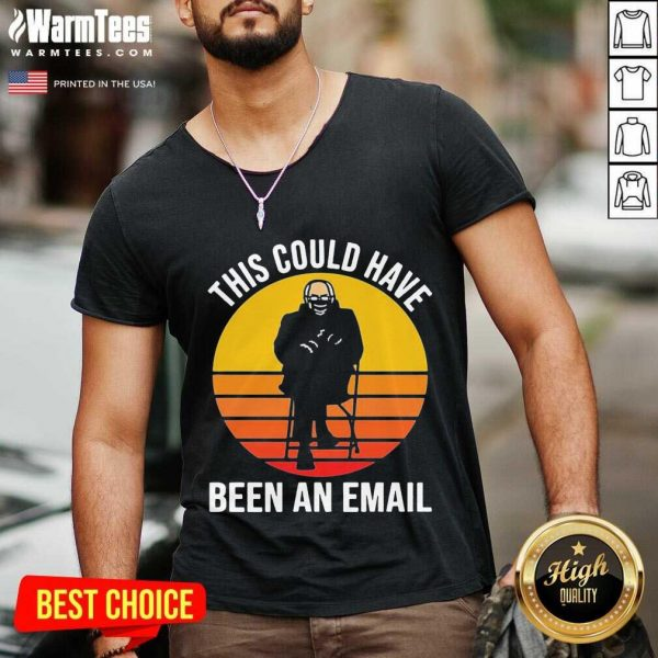 Bernie This Could Have Been An Email Sunset V-neck