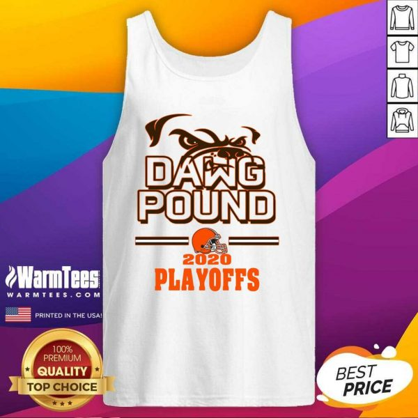 Dawg Pound 2020 Playoffs Cleveland Browns Tank Top - Design By Warmtees.com