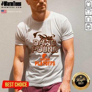 Dawg Pound 2020 Playoffs Cleveland Browns V-neck - Design By Warmtees.com