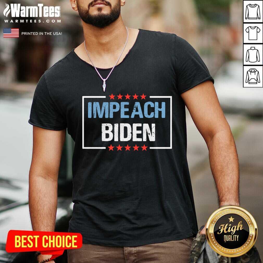 Impeach Biden President 2021 V-neck