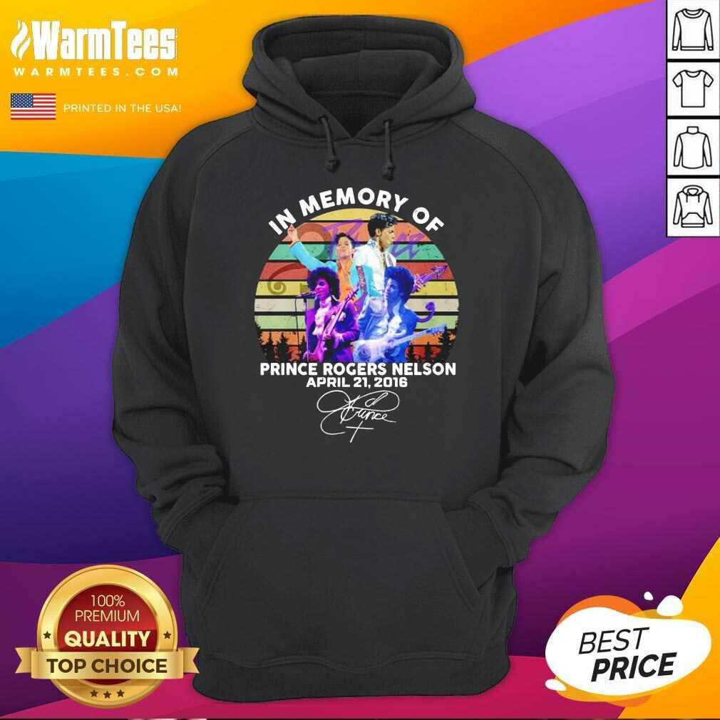 In Memory Of Prince Rogers Nelson April 21 2016 Signature Vintage Hoodie  - Design By Warmtees.com