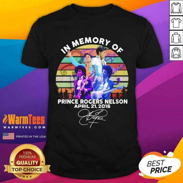 In Memory Of Prince Rogers Nelson April 21 2016 Signature Vintage Shirt - Design By Warmtees.com