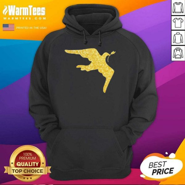 Inauguration Outfit Gold Dove Brooch Hoodie