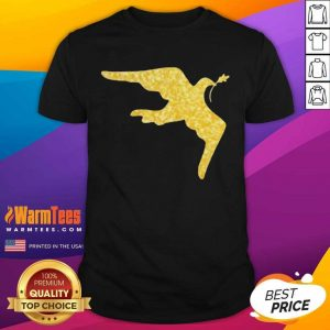 Inauguration Outfit Gold Dove Brooch Shirt
