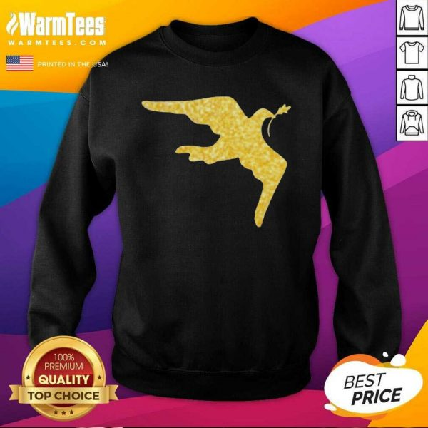 Inauguration Outfit Gold Dove Brooch SweatShirt