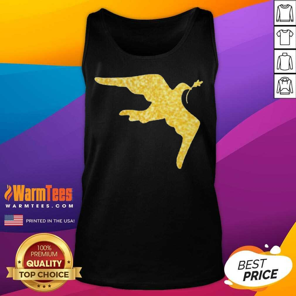 Inauguration Outfit Gold Dove Brooch Tank Top