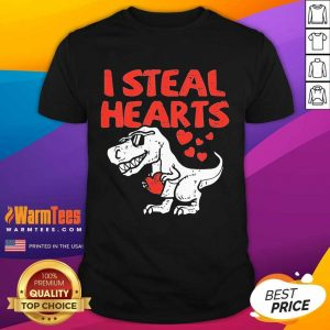Kids I Steal Hearts T Rex Dino Cute Baby Boy Valentines Day Shirt