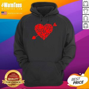 Mickey Mouse Hearts Valentine Red Hoodie