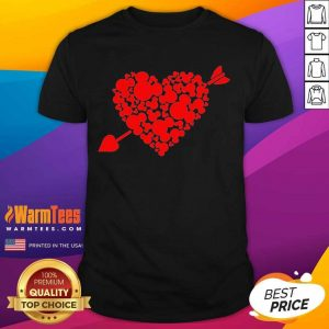 Mickey Mouse Hearts Valentine Red Shirt