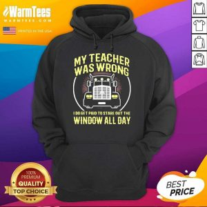My Teacher Was Wrong I Do Get Paid To Stare Out The Window All Day Hoodie