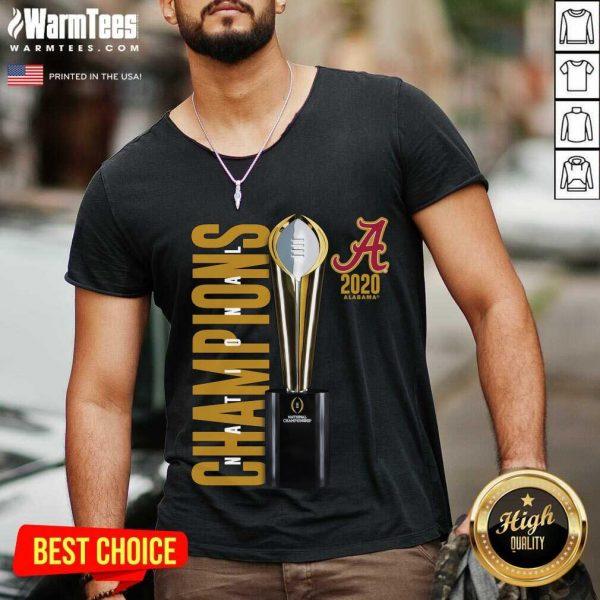 Alabama Crimson Tide Fanatics Branded College Football Playoff 2020 National Champions Celebration V-neck