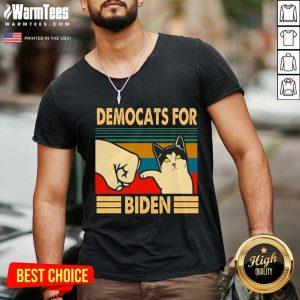 Democats For Biden Vintage 2021 V-neck