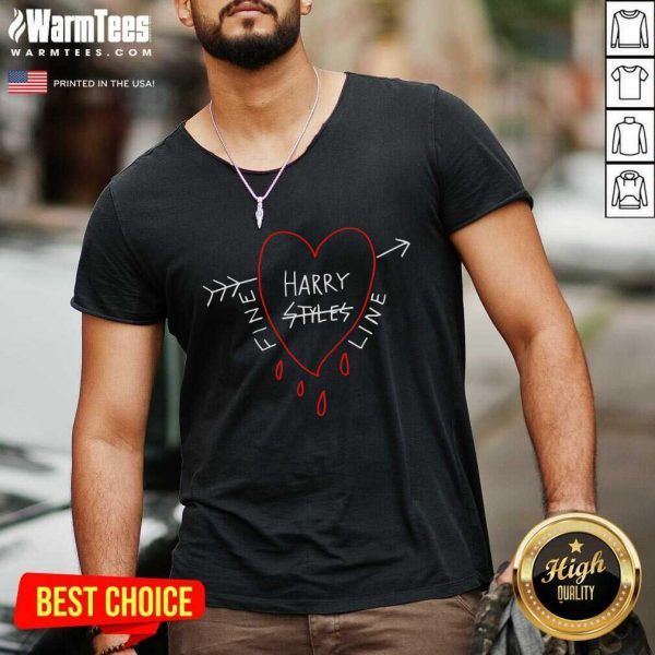 Fine Line Styles Of Harry Tee V-neck - Design By Warmtees.com