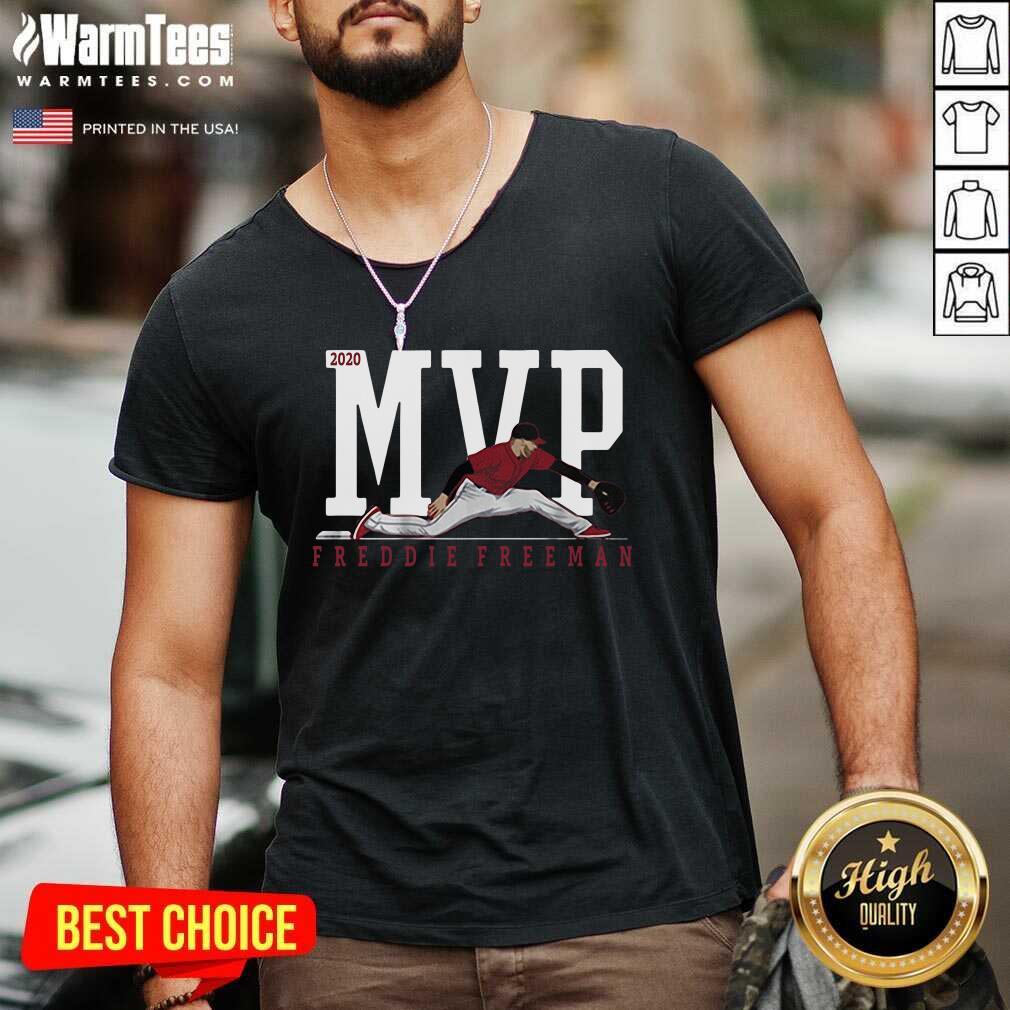 Freddie Freeman MVP 2020 V-neck  - Design By Warmtees.com