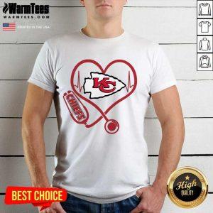 Kansas City Chiefs Nurse Stethoscope Heart Shirt