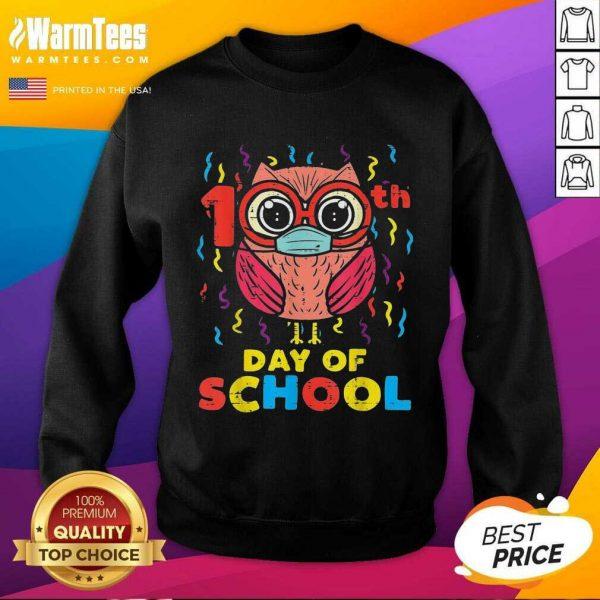 Owl Face Mask 100th Day Of School SweatShirt