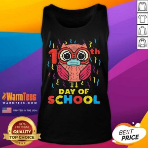 Owl Face Mask 100th Day Of School Tank Top