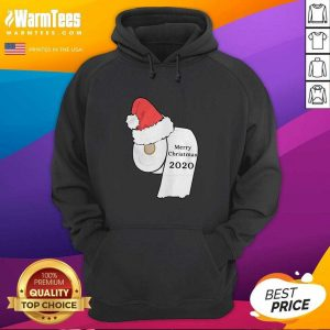 Santa Hat Toilet Paper Merry Christmas 2020 Hoodie - Design By Warmtees.com