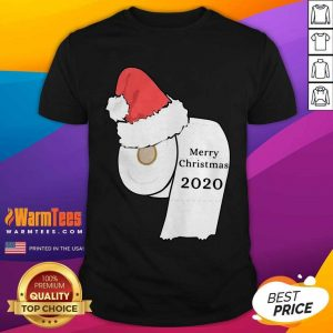 Santa Hat Toilet Paper Merry Christmas 2020 Shirt - Design By Warmtees.com