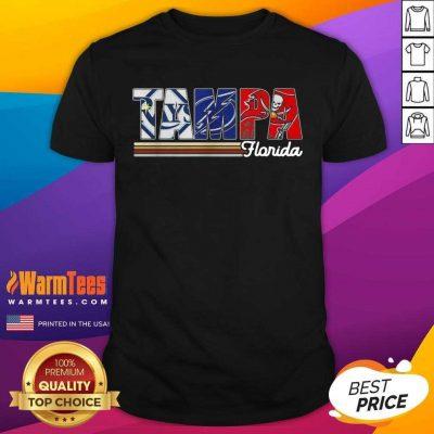 Tampa Tampa Bay Rays Tampa Bay Lightning Tampa Bay Buccaneers Florida Vintage Shirt