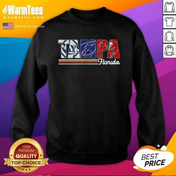 Tampa Tampa Bay Rays Tampa Bay Lightning Tampa Bay Buccaneers Florida Vintage SweatShirt