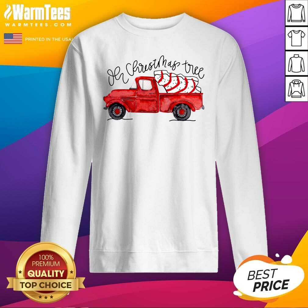 Truck Red Oh Christmas Tree SweatShirt  - Design By Warmtees.com
