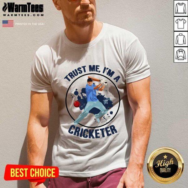 Trust Me I'm A Cricketer V-neck - Design By Warmtees.com