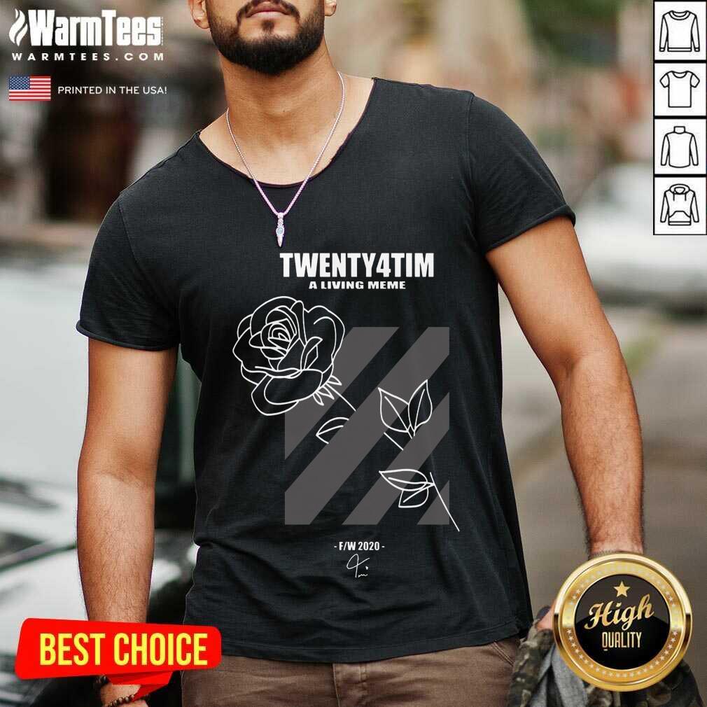 Twenty4tim Shop Merch Rose V-neck