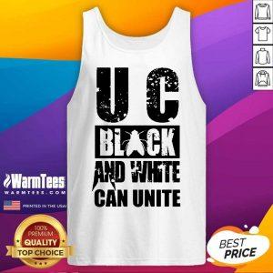 U C Black And White Can Unite Tank Top