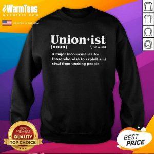 Unionist Definition 2021 SweatShirt - Design By Warmtees.com