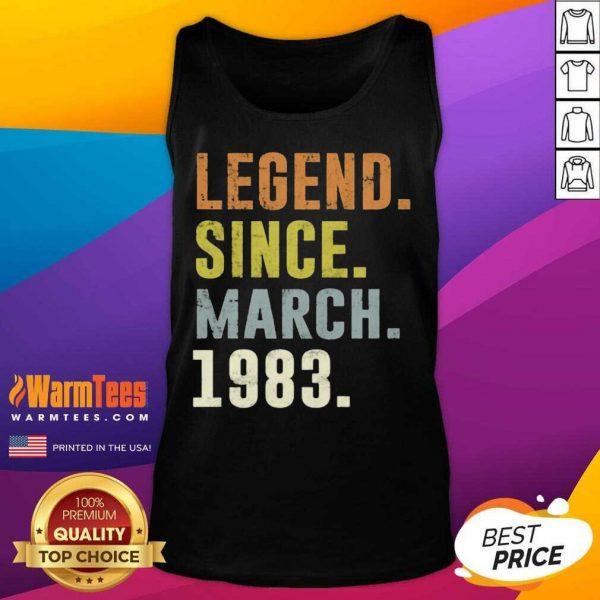 38th Retro Birthday Vintage Legend Since 1983 Tank Top