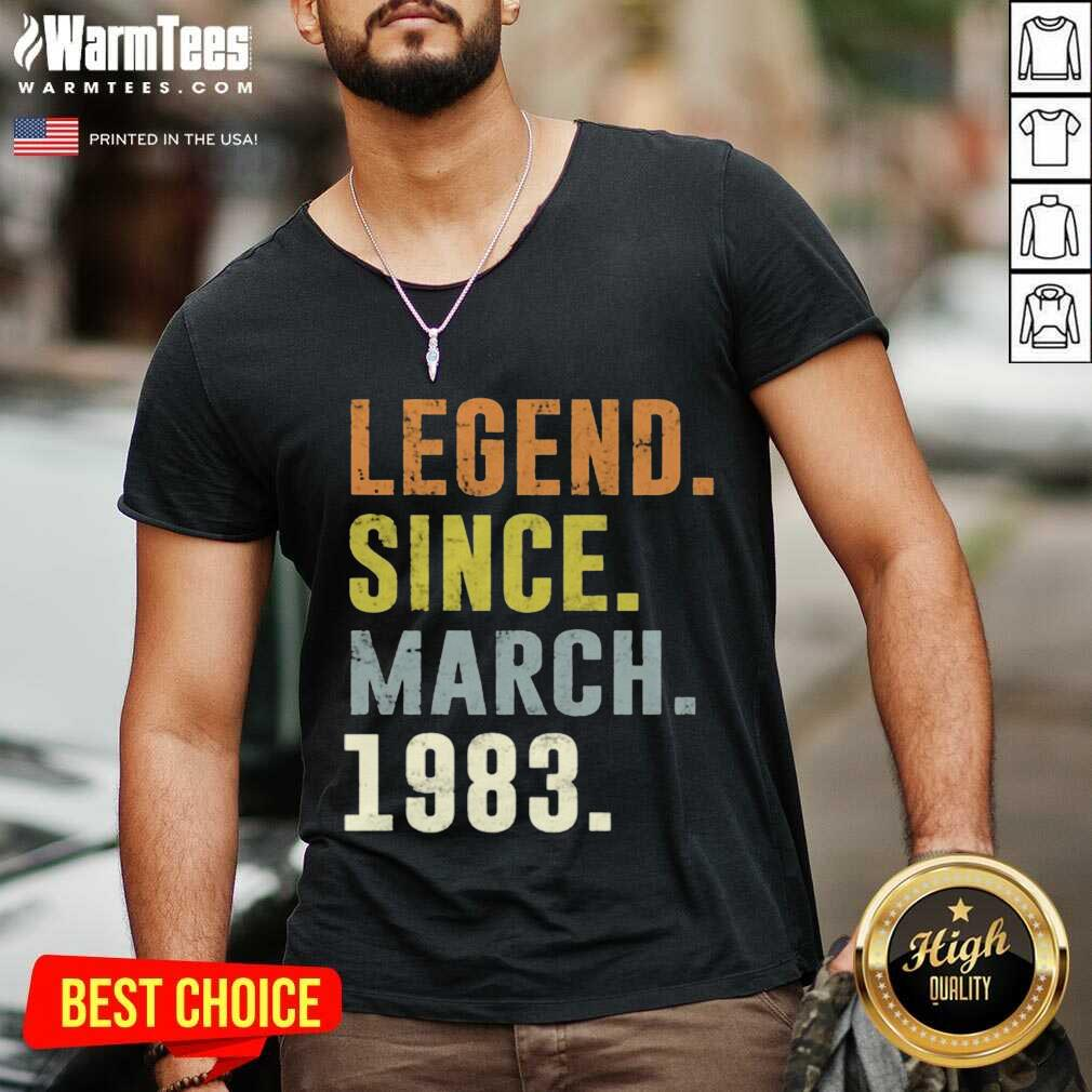 38th Retro Birthday Vintage Legend Since 1983 V-neck