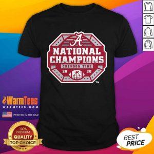 Alabama Crimson Tide Fanatics Branded College Football Playoff 2020 National Champions Sack Shirt