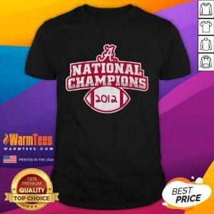 Alabama Crimson Tide National Champions 2012 Shirt