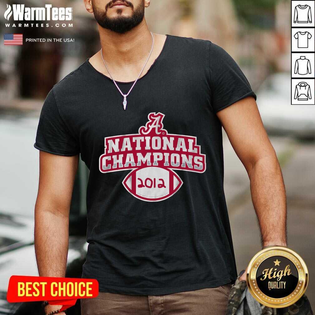Alabama Crimson Tide National Champions 2012 V-neck
