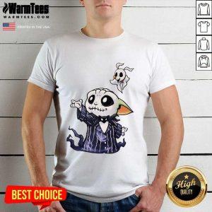 Baby Yoda In Jack Skellington And Zero Shirt - Design By Warmtees.com