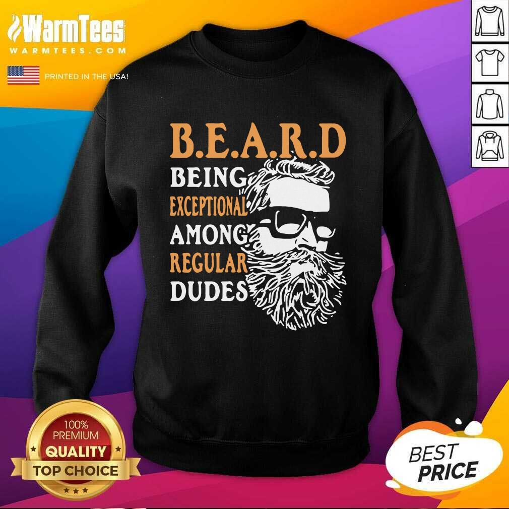 Being Exceptional Among Regular Dudes Beard SweatShirt