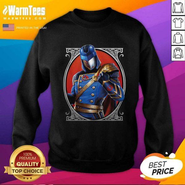 Cobra Commander Classic Pose GI Joe SweatShirt - Design By Warmtees.com