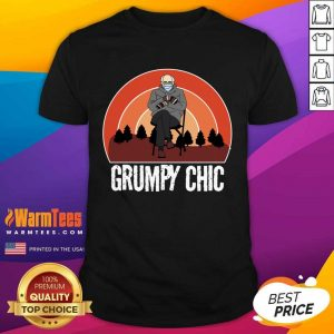 Grumpy Chic Bernie Sanders Smitten For Mittens Inauguration Shirt