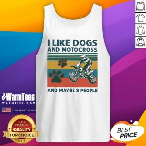 I Like Dogs And Motocross And Maybe 3 People Vintage Tank Top - Design By Warmtees.com